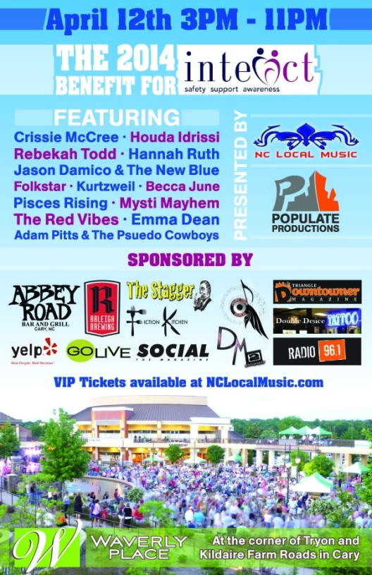 2014 Benefit For Interact, nc local music, cary nc